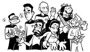 Star Trek TNG Cast by yooki42