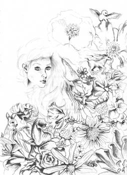 Flowers And Dreamscapes [1]: Black and White