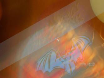 Blurry Neon Bat