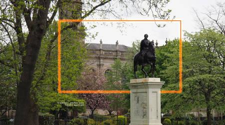 Statue in Glasgow / King William 2nd