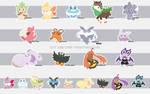 Kalos Pokemon Sticker Designs
