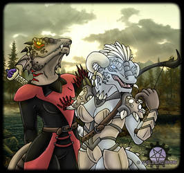 Baliska and Hiskera by Ashen-Oni-Creations