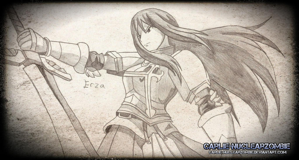 Anime sketch erza scarlet by sadisticjackal