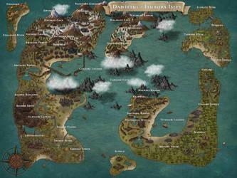 Damietul / Itunora Isles - MAP by Ashen-Oni-Creations