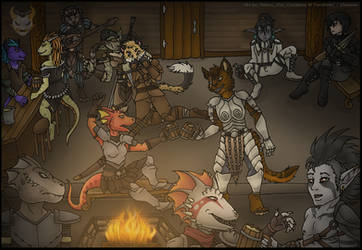 YCH Commission - Drinks at the Tavern by Ashen-Oni-Creations