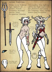Personal - Lexia Valerius Reference by Ashen-Oni-Creations
