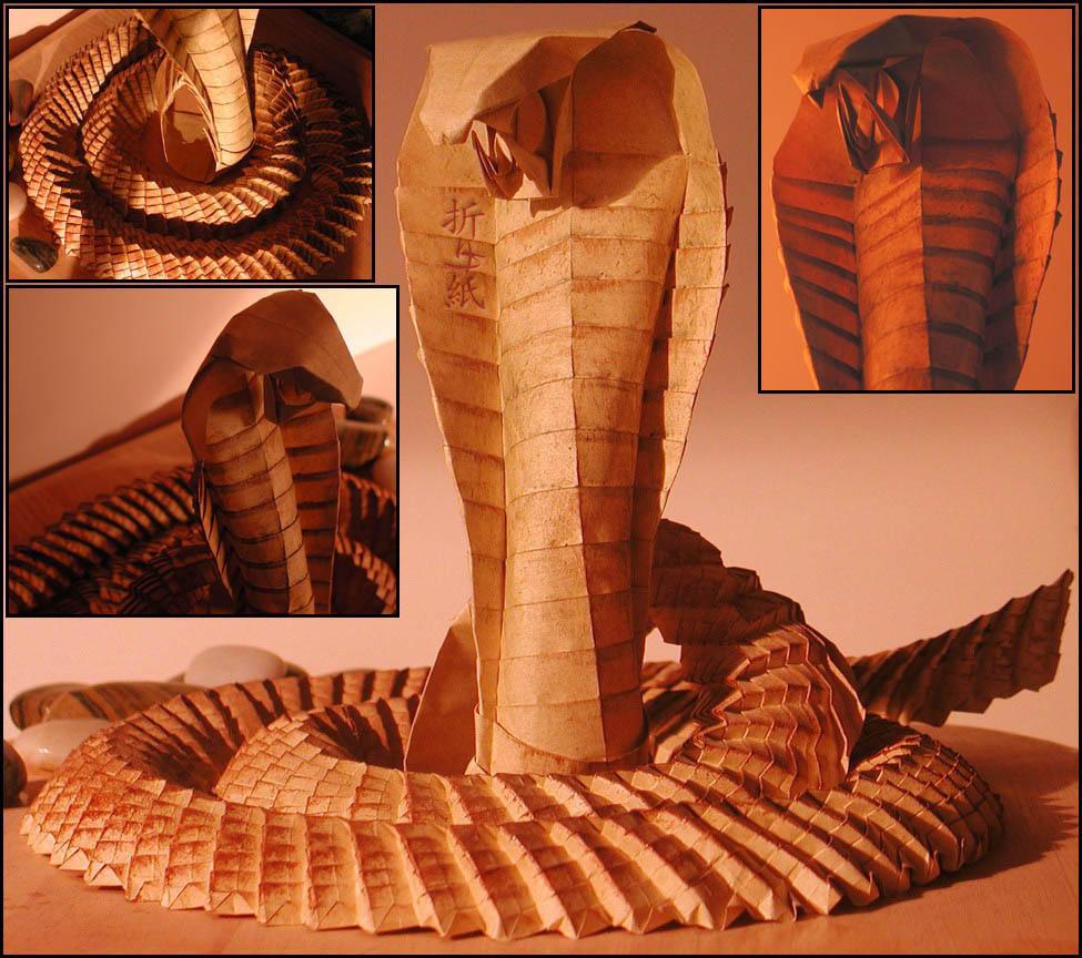origami cobra by orsobrusco