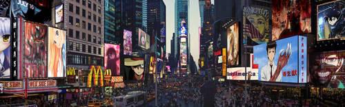 Anime Times Square by DinocoZero
