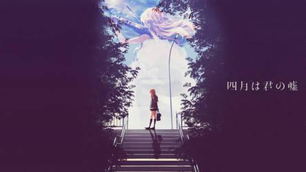 Shigatsu Wa Kimi No Uso Wallpaper by DinocoZero