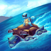 Squirtle Used Surf by RebeccaFrank