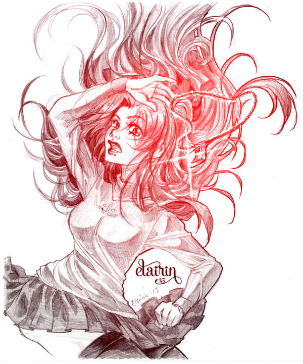 -:- Sketch : Rin Tohsaka -:- by Elairin