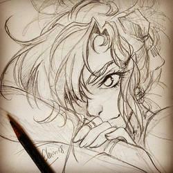 Sketch - Nyx - Ardent Desire by Elairin