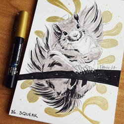 Inktober - Day 26: Squeak by Elairin