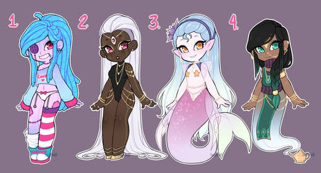 $20 Monster Girl Adopts #3 (CLOSED) by LunaOfWater