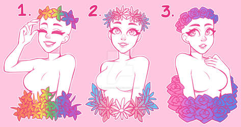Floral Pride YCH (CLOSED!)