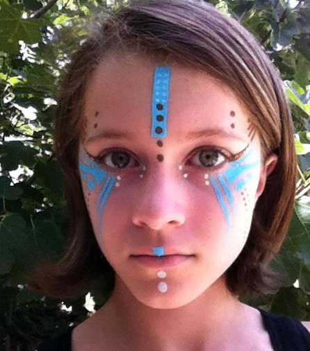 Simple tribal face paint
