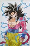 Goku Super Saiyan 4 GT by RafaelAvd