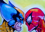 WOLVERINE VS SPIDERMAN by RafaelAvd
