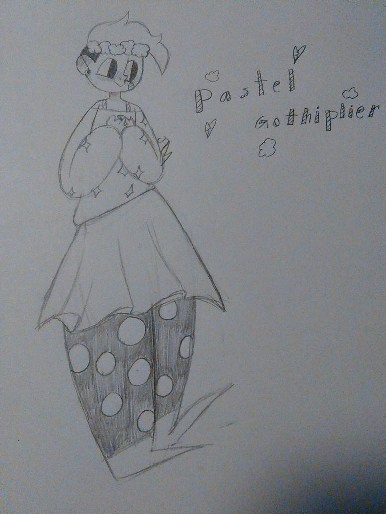 Pastel Gothiplier sketch :D by JinxedMyself