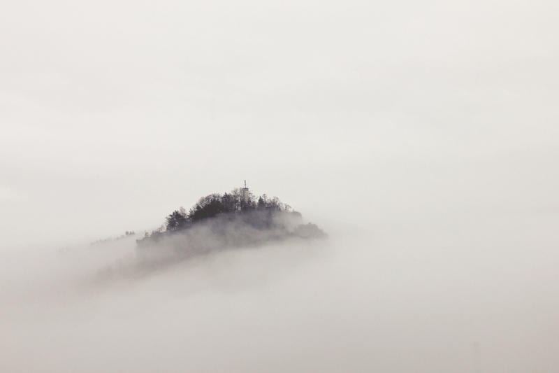 And Then A Land Appeared Between The Clouds by fantom125