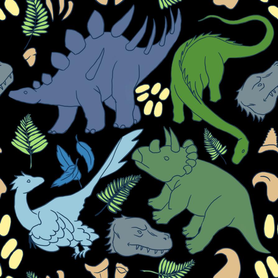 Dino Pattern by Tagath
