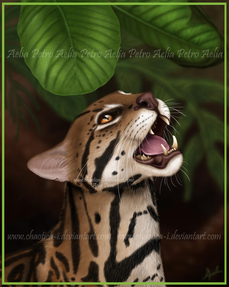 Ocelot Painting by Chaotica-I