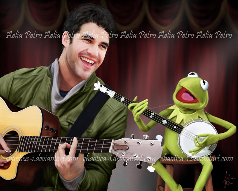 Darren Criss and Kermit the Frog by Chaotica-I