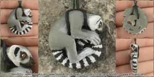 Ring Tailed Lemur Necklace