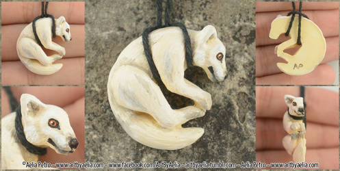 Arctic Wolf Necklace by Chaotica-I