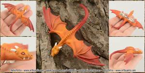 Realistic Flame Dragon Hatchling Hairclip