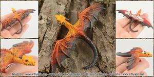Lava Dragon Hatchling Hairclip