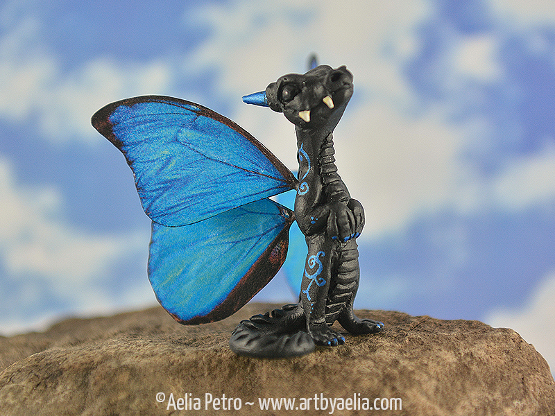 Butterfly Snap Dragonet - Blue Morpho by Chaotica-I