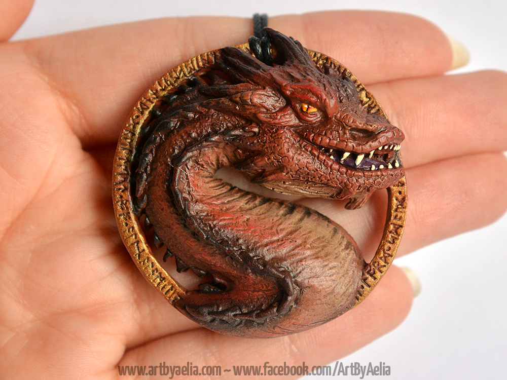 Smaug Necklace by Chaotica-I