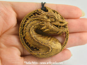 Golden Smaug Necklace