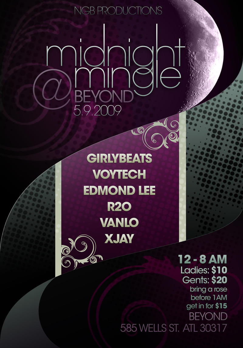 Midnight Mingle Flyer by WishRecurred