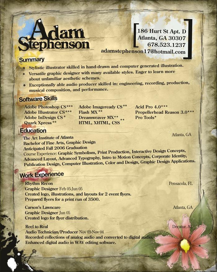 My resume by WishRecurred