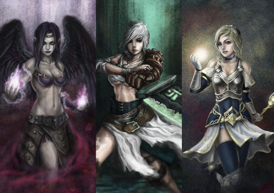 Wallpaper: morg, riven, lux by Penator