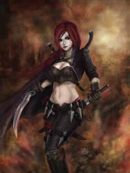 Katarina du Couteau, the Crimson blade of Noxus by Penator