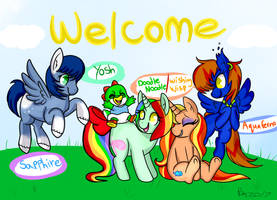 Welcome room sign bronycon 2017 by pinkiepiegasm