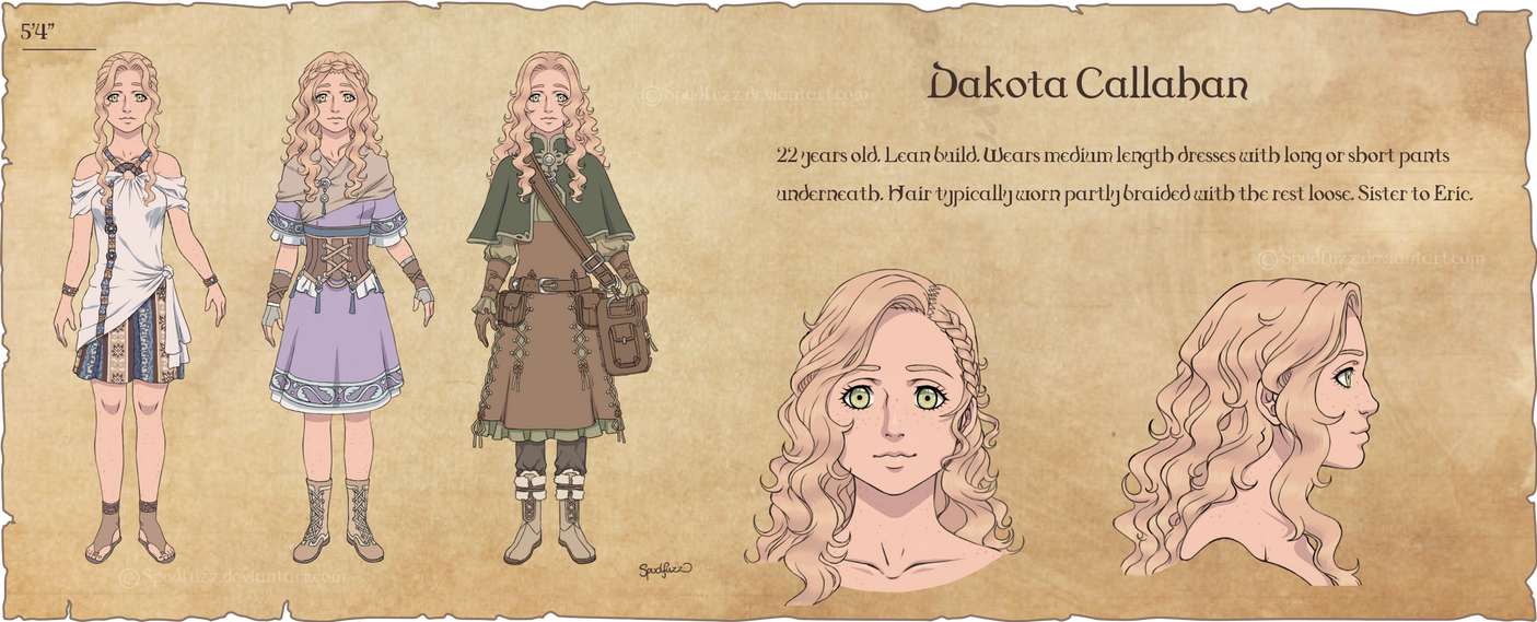 D Amp D Character Design Sheet : Character design dakota by spudfuzz on deviantart
