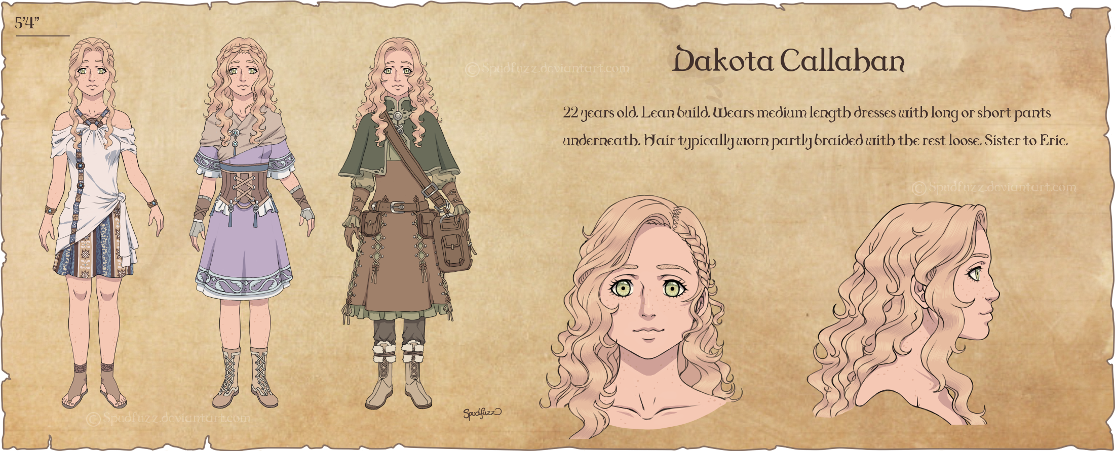 Character Design: Dakota by Spudfuzz