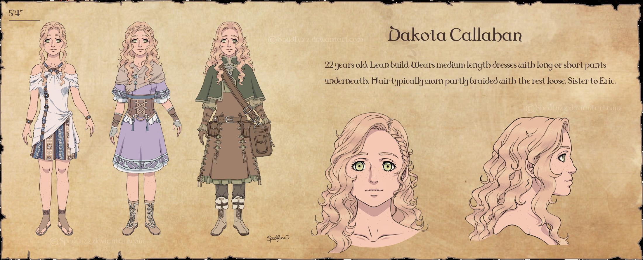 Character Design Dakota By Spudfuzz