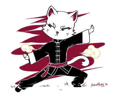 Cat's Stance by Spudfuzz