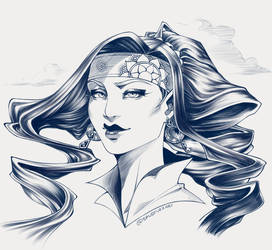 Kashika Portrait - Ink Rendering