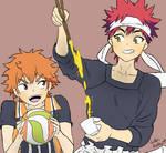 Hinata and Yukihira