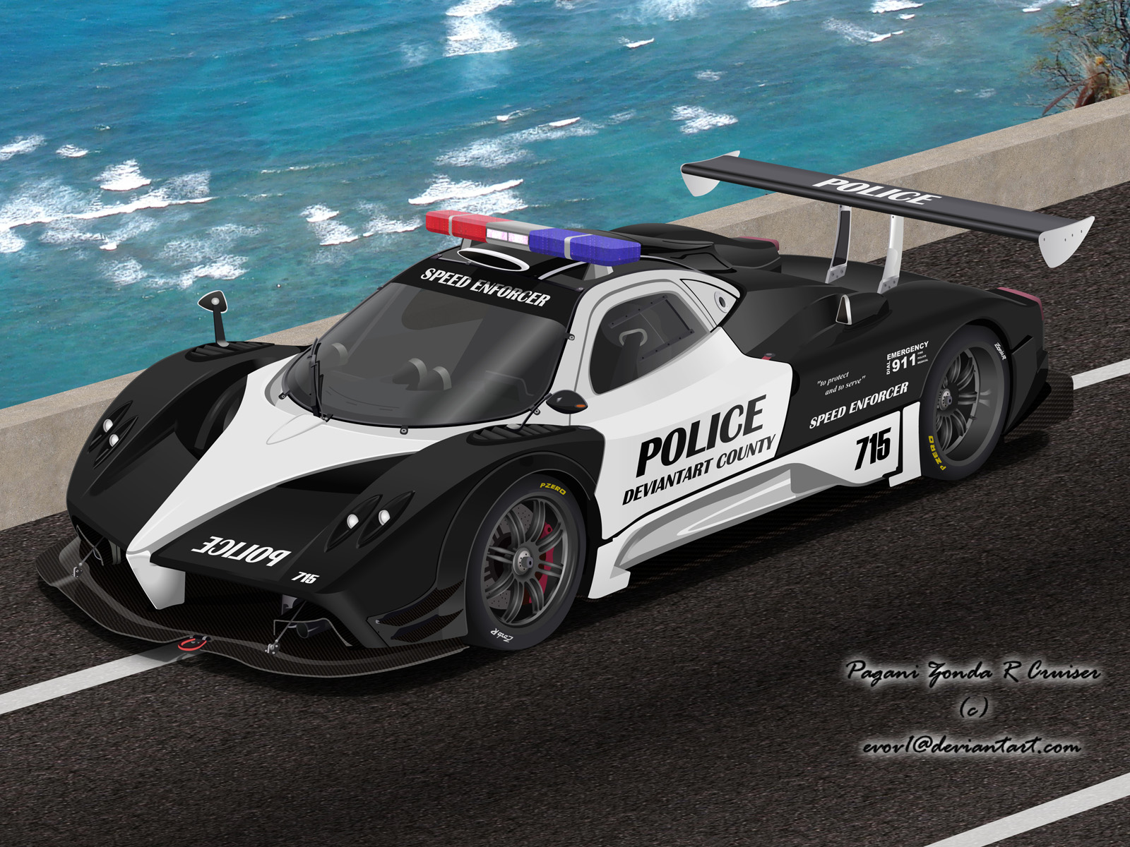 Pagani Zonda R Police Car