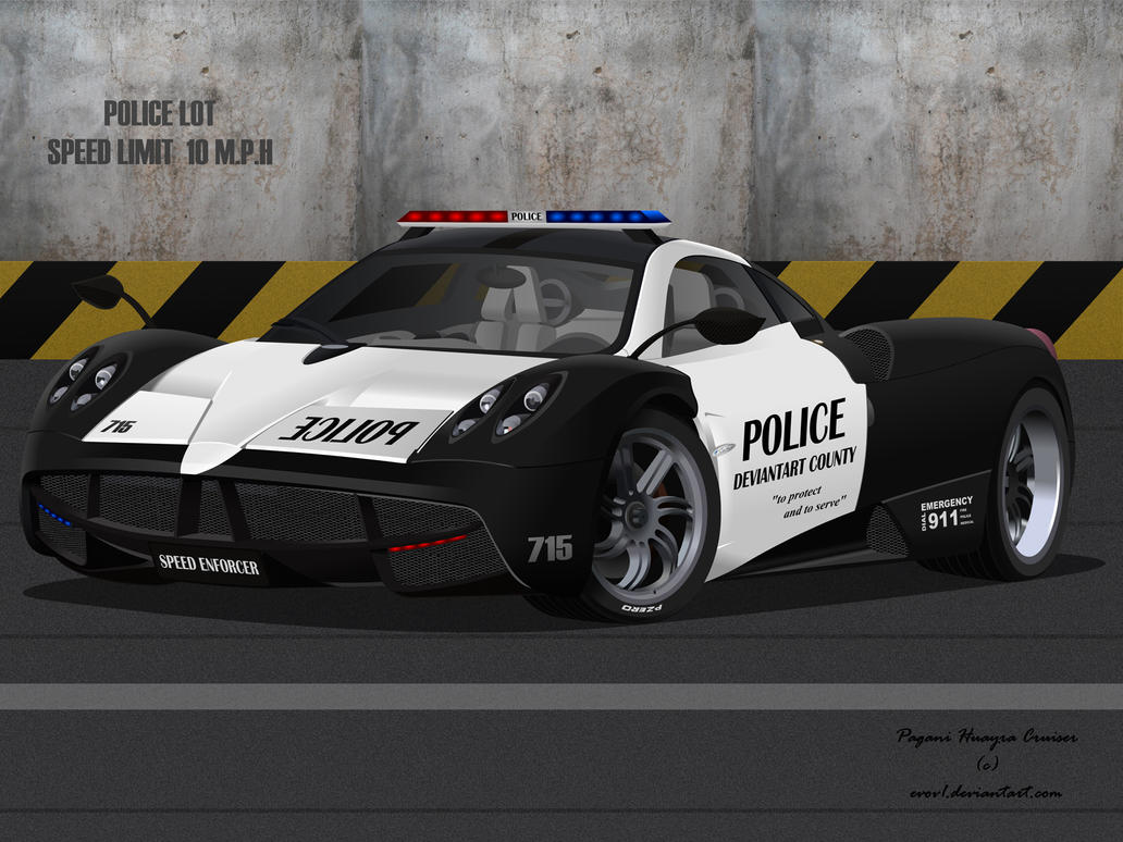 Pagani Huayra Police Interceptor Wallpaper by EVOV1