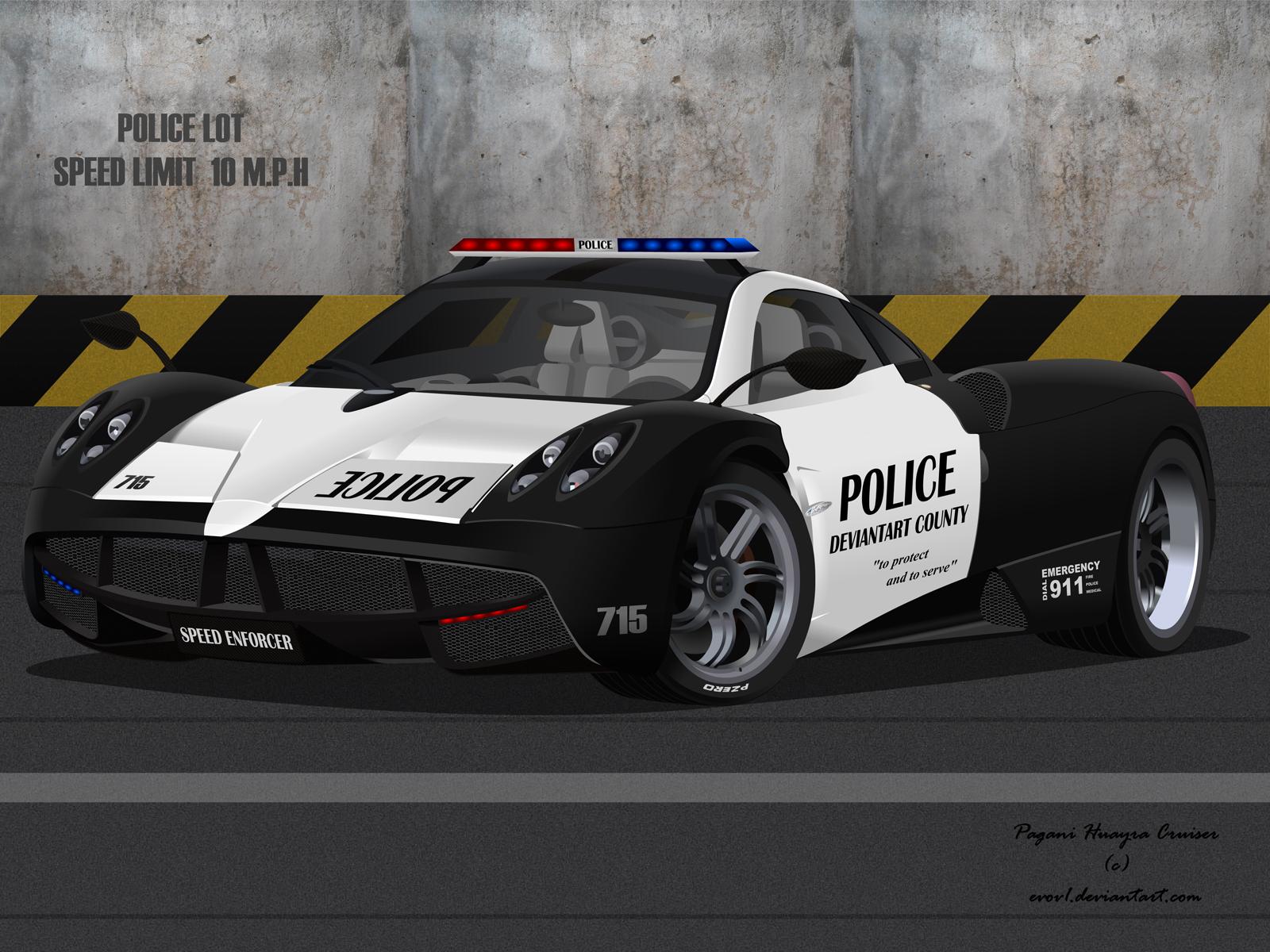 Pagani Huayra Police Interceptor Wallpaper by EVOV1