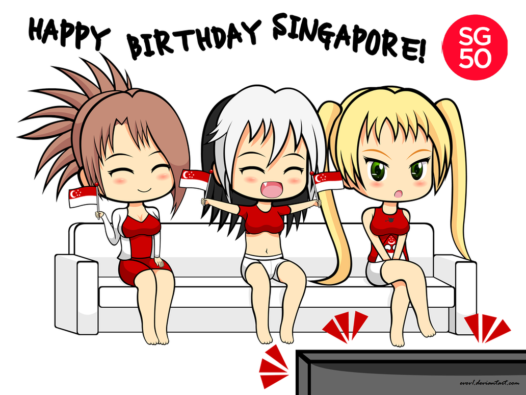 SG50 Happy Birthday Singapore by EVOV1