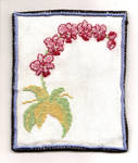 orchid cross stitch finished